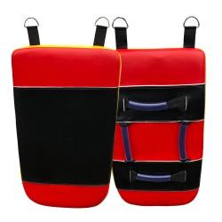 Schlagpolster Gelb Rot Schwarz Leder