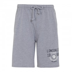 Lonsdale Manchester Herren Jersey Shorts Marl Grey