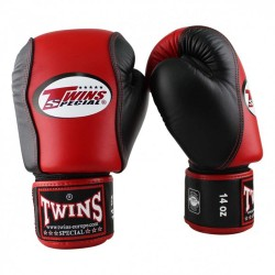 Twins BGVL 7 Boxhandschuhe Red Black Leder