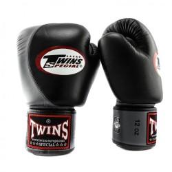 Twins BGVL 4 Boxhandschuhe Black Grey Leder