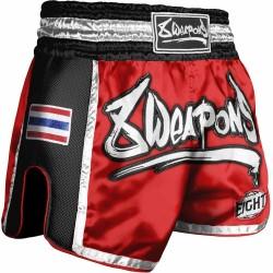 8WEAPONS Muay Thai Short Super Mesh Red-Black