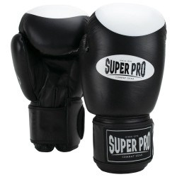 Super Pro Boxer Pro Boxhandschuhe Schwarz Weiss