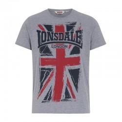 Lonsdale Southampton Herren T-Shirt Marl Grey
