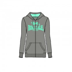 Lonsdale Sunderland Damen Zipsweater Marl Grey