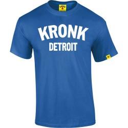 KRONK Detroit T Shirt Royal Blue White
