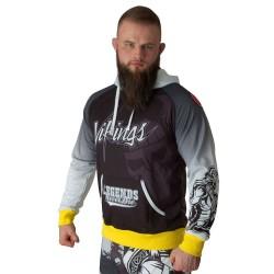 Top Ten Vikings Hoodie Schwarz Weiss