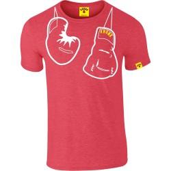 KRONK Outline Hanging Gloves Slimfit T Shirt Heather Red