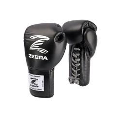 Zebra Boxhandschuhe PRO Signature Lace Up Fight black