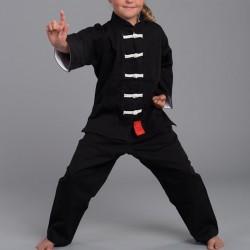 Phoenix Shaolin II Kung Fu Black White Kids