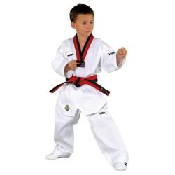 Kwon Victory TKD Anzug Weiss Revers schwarz rot WT