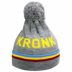 Kronk Detroit 3 Stripe Bobble Hat Grey