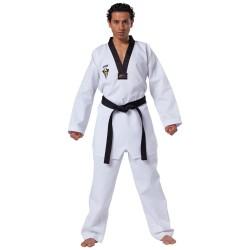 Kwon Starfighter Taekwondo  Anzug Weiss Revers schwarz