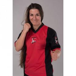 Phoenix BF Kickbox Shirt Rot Schwarz Elastic Mesh