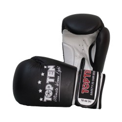 Top Ten Ultimate Women Fight 10Oz Boxhandschuhe Schwarz Weiss