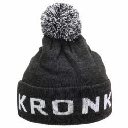 Kronk Detroit Bobble Hat Charcoal White