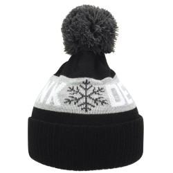Kronk Detroit Snowflake Bobble Hat Black