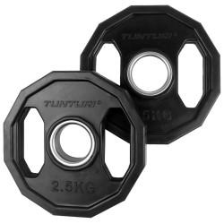 Tunturi Olympic Gummi Gewichtsscheiben 2.50kg Paar