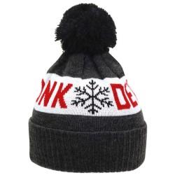 Kronk Detroit Snowflake Bobble Hat Charcoal