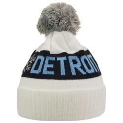 Kronk Detroit Snowflake Bobble Hat White
