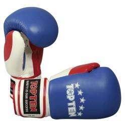 Top Ten Fight Boxhandschuhe 10OZ Blau Weiss