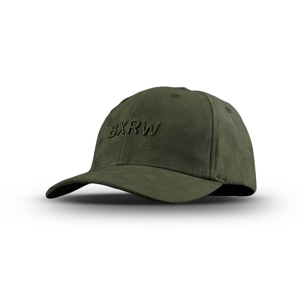 BOXRAW SUEDE BASEBALL CAP Khaki