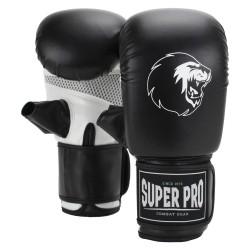 Super Pro Victor Boxsackhandschuhe Schwarz Weiss