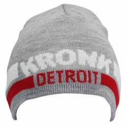 Kronk Detroit Two Stripe Beanie Hat Grey