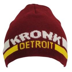 Kronk Detroit Two Stripe Beanie Hat Maroon