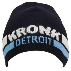 Kronk Detroit Two Stripe Beanie Hat Navy