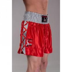 Abverkauf Phoenix Budos Finest Thai Shorts Rot Silbergrau