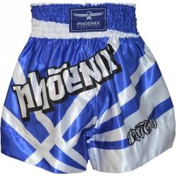 Phoenix Thai Shorts Fighter Blau Weiss