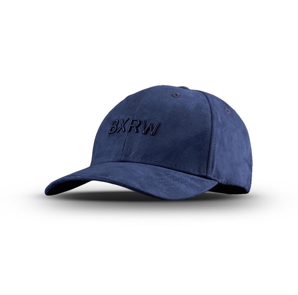 BOXRAW SUEDE BASEBALL CAP Navy Blau