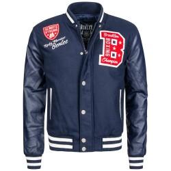 Benlee College Jacket Newark Navy