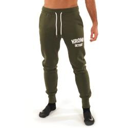 Kronk Detroit Jogginghose Military Green White