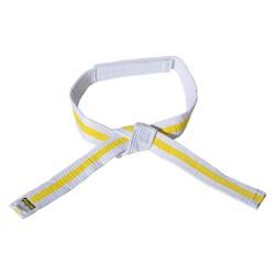 Kwon Clubline Klett Gürtel für Kinder weiss gelb weiss