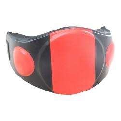 Belly Pad Rot Schwarz Leder