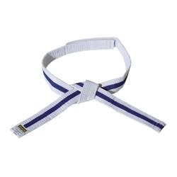 Kwon Clubline Klett Gürtel für Kinder weiss blau weiss