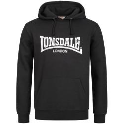 Lonsdale Wells Men Hooded Sweatshirt Hoody black schwarz Hoody