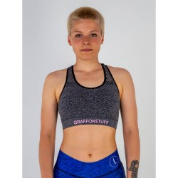 Abverkauf Graff on Stuff Rough Mesh Sports Bra ash