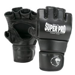 Super Pro Brawler MMA Handschuhe Schwarz Weiss