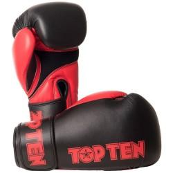 Top Ten XLP Boxhandschuhe Schwarz Rot