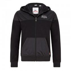 Lonsdale Hooded Training Jacket Great Mongeham Black