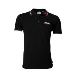 Lonsdale Lion Herren Slim Fit Poloshirt Black Dark Red White