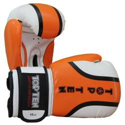 Top Ten Rallye Boxhandschuhe Orange Weiss