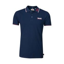 Lonsdale Lion Herren Slim Fit Poloshirt Navy Dark Red