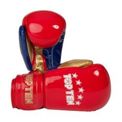 Top Ten Champion Boxhandschuhe Rot Gold
