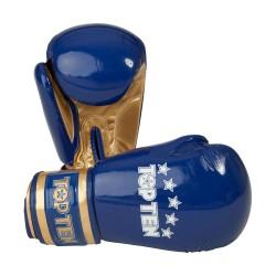 Top Ten Champion Boxhandschuhe Blau Gold