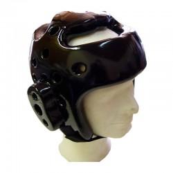 Taekwondo Kopfschutz Schwarz Schaumstoff