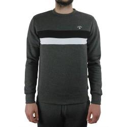 Kronk Stripe Sweatshirt Charcoal Melange