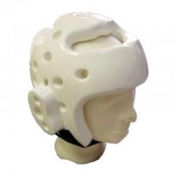 Taekwondo Kopfschutz Weiss Schaumstoff